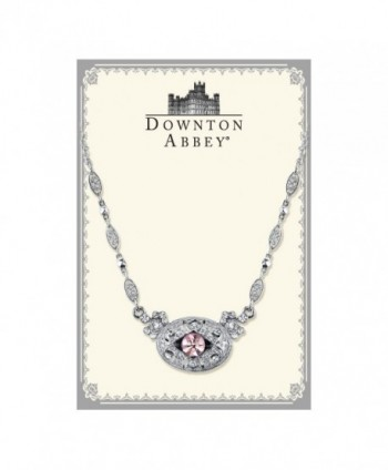 Downton Abbey Silver Tone Amethyst Necklace