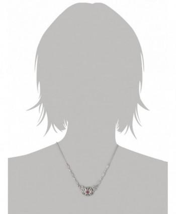 Downton Abbey Silver Tone Amethyst Necklace in Women's Pendants