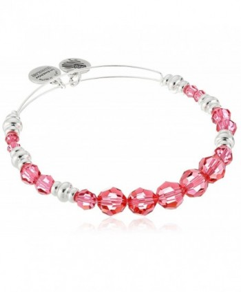 "Alex and Ani ""Swarovski Beaded"" Rouge Expandable Wire Bangle Bracelet - Pink/Silver - CZ12ID5031L"