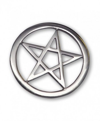 Gothic Pentacle Jacket or Hat Pin Polished Silver Finish Pewter - CS11FATYVQL