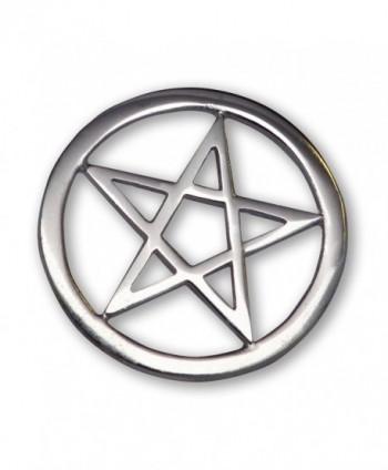 Gothic Pentacle Jacket or Hat Pin Polished Silver Finish Pewter - CS11FATYVQL
