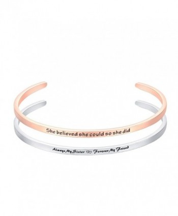 Bracelet Engraved Forever believed Inspirational - B - CI186XS4CNE