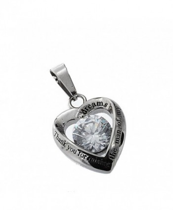 R H Jewelry Stainless Pendant Necklace in Women's Pendants