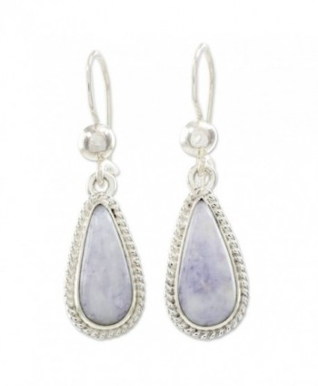 NOVICA Lavender Jade and .925 Sterling Silver Dangle Earrings- 'Lavender Tear' - C8127Y1RP39
