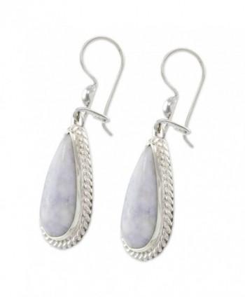 NOVICA Lavender Sterling Silver Earrings