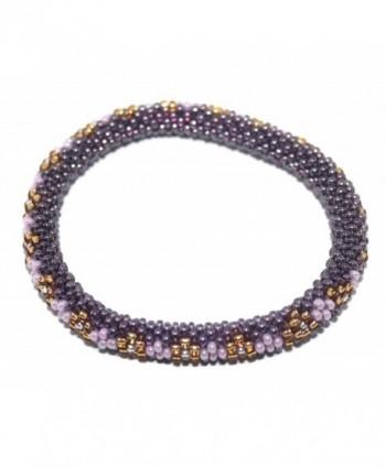 Crochet Glass Seed Bead Bracelet Roll on Bracelet Nepal Bracelet SB205 - C0127W5KRA9