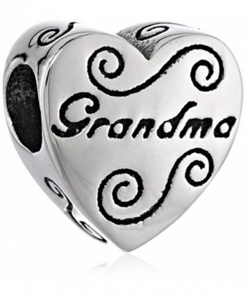 Disney Stainless Steel Grandma Heart Bead Charm - C411GNUL1IX