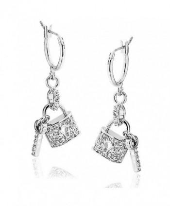 Bling Jewelry Crystal Earrings Rhodium