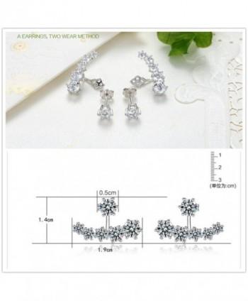 KOREA JIAEN Earrings Silver Plated Crescent