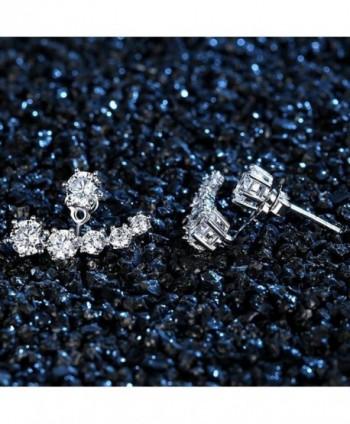 KOREA JIAEN Earrings Silver Plated Crescent in Women's Stud Earrings