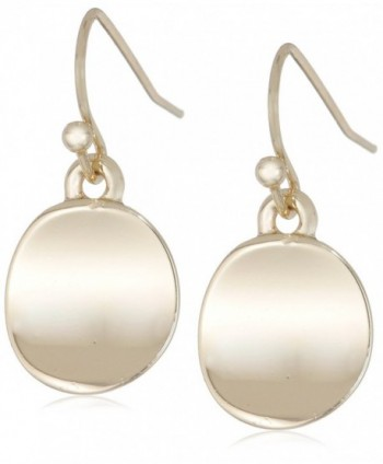 Kenneth Cole New York Shiny Earrings Small Circle Drop Earrings - Shiny Gold - CM11B280NVH