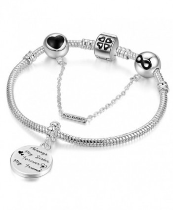 Bracelets Engraved Forever Friendship Jewelry