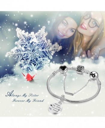 Bracelets Engraved Forever Friendship Jewelry in Women's Charms & Charm Bracelets