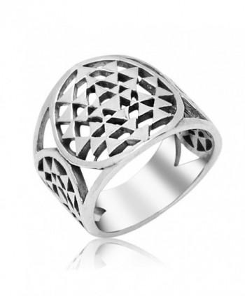 Sterling Silver Yantra Geometry Talisman