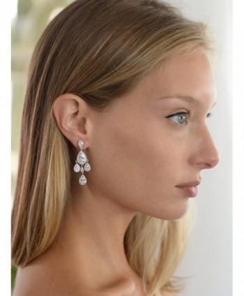 Mariell Chandelier Bridal Wedding Earrings