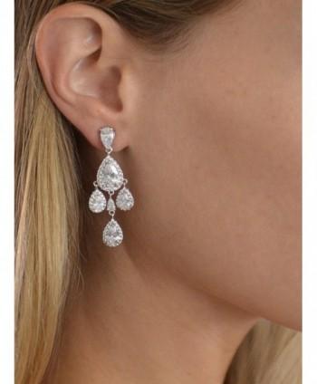 Mariell Chandelier Bridal Wedding Earrings in Women's Clip-Ons Earrings
