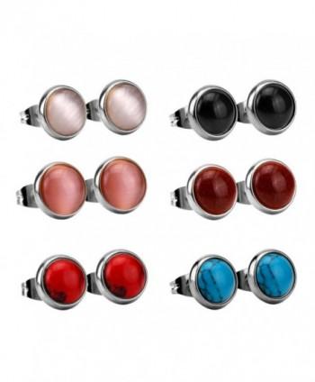 LUXUSTEEL Fashion Stainless Earrings Silvery - Silvery - CF12LIG3JC7