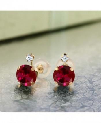 Yellow Created Sapphire Womens Earrings in Women's Stud Earrings
