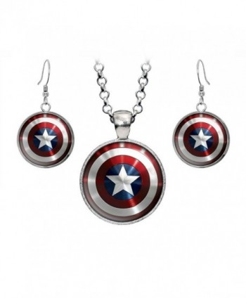 Necklace Avengers Superhero Earrings Presents - CB12CUE0OGP