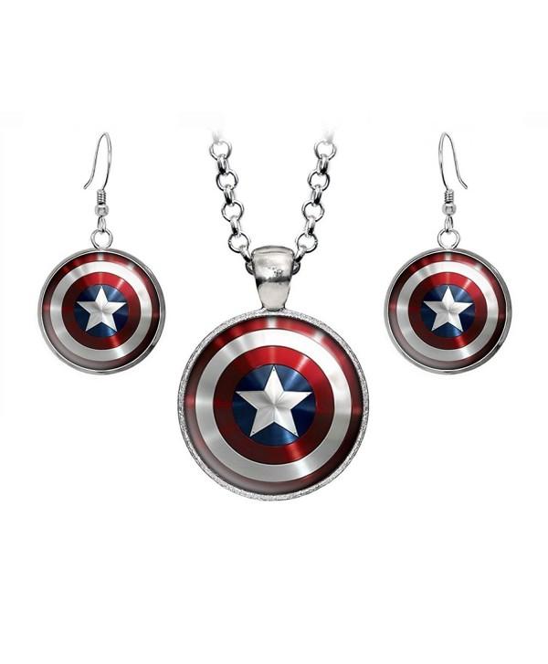Necklace Avengers Superhero Earrings Presents - CB12CUE0OGP