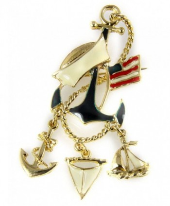 6030480 Navy Brooch Lapel Pin Mariner Marine Patriot US Flag - CG11L8G8GHB
