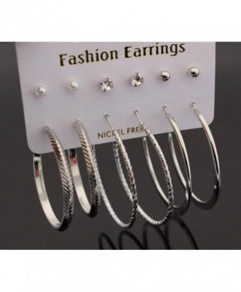 Cyntan Earring Crystal Earrings Silver in Women's Hoop Earrings