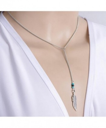 Necklace Gillberry Bohemian Turquoise Statement in Women's Chain Necklaces