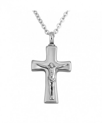 CharmSStory Black Cross Necklace For Ashes Cremation Keepsake Memorial Urn Pendant Necklaces - CV12IP5TL67