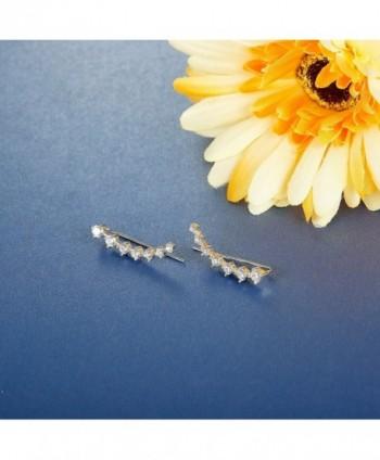 Jstyle Crawlers Earrings Climber Zirconia in Women's Cuffs & Wraps Earrings