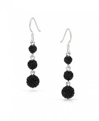 Bling Jewelry Crystal Sterling Earrings in Women's Drop & Dangle Earrings