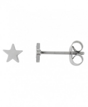 Tiny Stainless Steel Star Stud Earrings 5 and 6 mm - CT11KHYMHMF