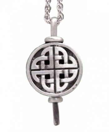 """Pewter Diffuser Pendant on 24"""" Rhodium Plated Rope Chain - CC11O082O8B"""