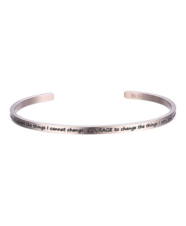 MLYSA 'I Love You to the Moon and Back' Cuff Bangle Gifts for Her- Sweetheart- Wife- Mom & Daughter - CA187HEK8TD