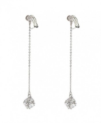 Clip on Dangle Earring Simple Tassel Clip for non Pierced Cubic Zirconia Fashion for teen - CK17YZ7MT3Z