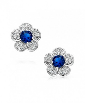Bling Jewelry Simulated September Birthstone in Women's Stud Earrings