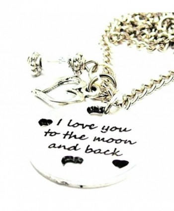 "ChubbyChicoCharms I Love You To The Moon And Back With Hearts Heart And Crystal 18"" Necklace - CN11EJKLHLP"