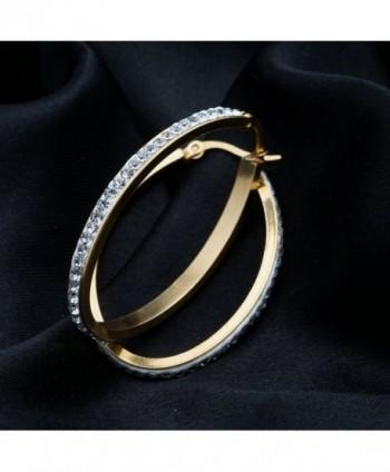 Anni Coco Stainless Crystal Earrings in Women's Hoop Earrings
