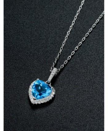 Necklace Birthstone Valentines Girlfriend Anniversary in Women's Pendants