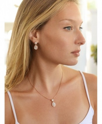 Mariell Rose Shaped Necklace Earrings