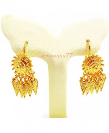 THAI EARRINGS DROP DANGLE 22K 23K 24K THAI BAHT YELLOW GOLD GP E003 - CP11PPRLNPB