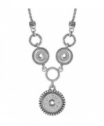 Ginger Snaps CHERISH COMBO NECKLACE SN92-87 (Standard Size) Interchangeable Jewelry Snap Accessory - CK12BNZVVG9