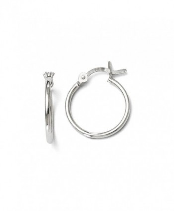 1.25mm Polished Sterling Silver Hoop Earrings- 15mm (9/16 in) - C711PKE9XNN