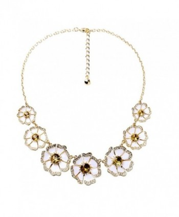 Multicolor Statement Necklace Jewelry - Fashion Flower Shaped Bid Necklace Jewelry Accessories for Women - B1 - C6184456AKO