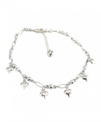 Perman Solid Heart Women Chain Anklet Bracelet Barefoot Sandal Beach Foot Jewelry - CF17YD8TTN5