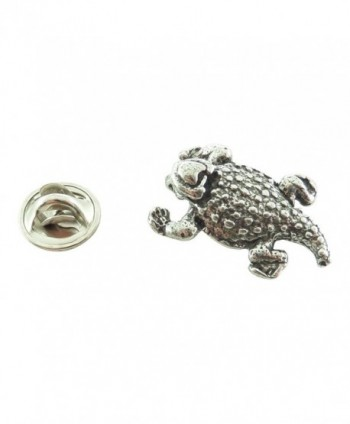 Creative Pewter Designs- Pewter Horny Toad Mini Pin- Antiqued Finish- A061MP - CJ127C07IV1
