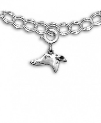 Sterling Silver Greyhound Charm for Charm Bracelet by the Magic Zoo - CP1194ZC61F