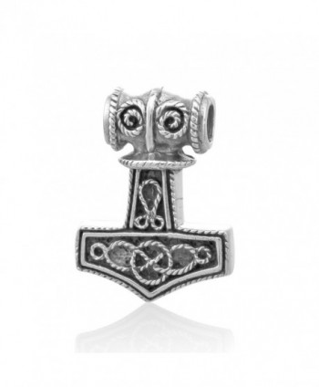 WithLoveSilver Sterling Silver Viking Amulet Norse Warrior Hammer of Thor Mjolnir Pendant - CH128K89RDV