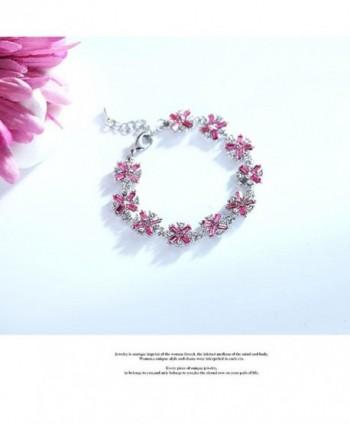 Sterling Swarovski Bracelet Zirconia Bracelets in Women's Link Bracelets
