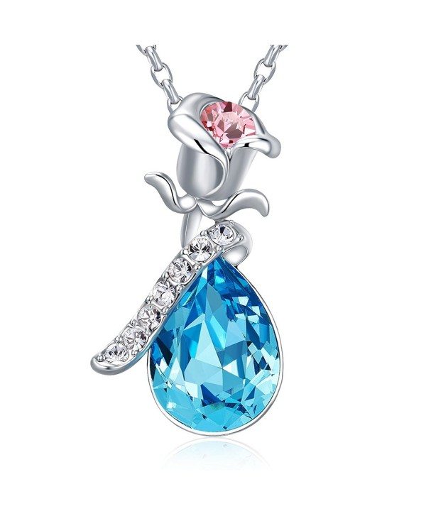 Necklaces necklaces CDE Swarovski Girlfriend - Blue - CU12K6GV0X5