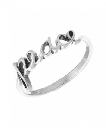 Boma Sterling Silver Peace Script Ring - CK118W7GUIL